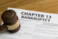 Глава 13 банкротства Стоковые Фото