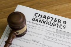 Глава 9 банкротства Стоковые Фото