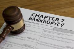 Глава 7 банкротства Стоковые Изображения RF