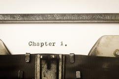 Глава 1 слова написанная на машинке Стоковые Изображения