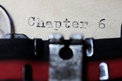 Глава 6 Стоковое Изображение