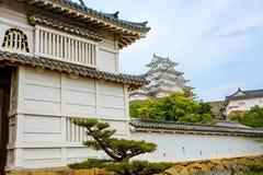 Главная башня замка Himeji в Японии Стоковая Фотография