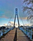 Главная башня пешеходного моста стоковые фотографии rf