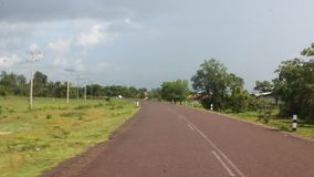 Главная дорога в южном Лаосе видеоматериал