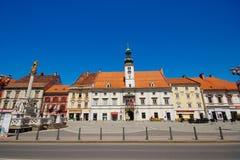 Главная площадь в Мариборе, Словении стоковое фото