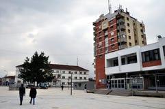 Главная площадь Bujanovac, Сербия Стоковое фото RF