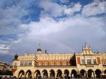 Главная площадь Cracow стоковые изображения