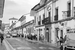 Главная улица в белом городе popayan Колумбии Южной Америке Стоковые Фото