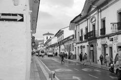 Главная улица в белом городе popayan Колумбии Южной Америке Стоковое Фото