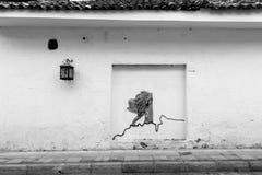 Главная улица в белом городе popayan Колумбии Южной Америке Стоковая Фотография