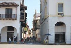 Главная улица в маленьком городе близко к Боготе Стоковое Изображение RF