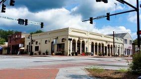 Главная улица в маленьком городе США стоковое изображение