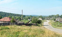 Главная улица в малой деревне Стоковое фото RF