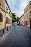 Главная улица в St Tropez стоковая фотография rf