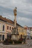 Главная улица исторического города стоковое изображение rf