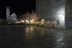 Главная улица на Hvar Стоковое Фото