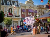 Главная улица США, волшебное королевство Стоковое фото RF