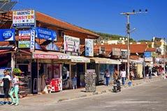 Главная улица с магазинами стоковая фотография