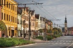 Главная улица (ulica Hlavna) в Presov Словакия Стоковые Фото
