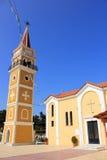 Главная церковь в деревне Argassi, Закинфе, Греции Стоковые Фотографии RF