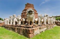 Главное stupa окруженное львами Стоковые Изображения