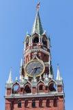 Главные часы России, Москвы Кремля, Москвы, России Стоковое фото RF