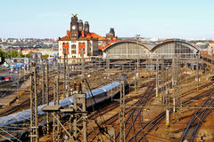 Главный вокзал в Праге, чехии Стоковые Изображения RF