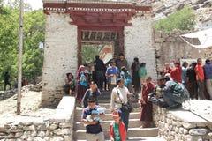Главный вход монастыря Hemis стоковое фото