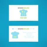 Главный головной шаблон визитной карточки кашевара сделанный внутри Стоковое фото RF
