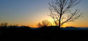 Главный заход солнца Стоковое Изображение RF