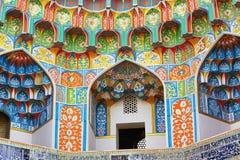 Главный портал мечети Kalyan, Бухары, Узбекистана Стоковое фото RF