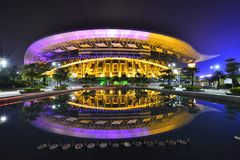 Главный стадион в спортивном центре Guangxi Стоковые Изображения RF