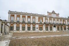 Главный фасад. Дворец Аранхуэса, Мадрида, наследия Spain.World сидит Стоковое Изображение