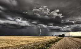 Главный шторм Саскачеван Стоковые Изображения RF