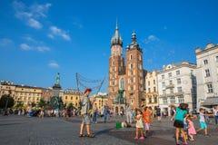 Главным образом рыночная площадь Проект для общественных мест PPS перечисляет квадрат как самое лучшее общественное место в Европ Стоковое Фото
