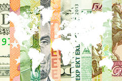 4 главных валюты в мире Стоковая Фотография