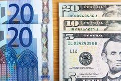 2 главных валюты Стоковое Изображение RF