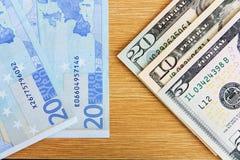 2 главных валюты Стоковые Изображения