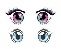 Глаза аниме стоковые изображения rf