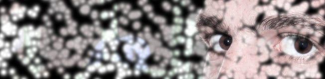 Глаза закрывают вверх по стороне Стоковое Фото