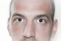 Глаза закрывают вверх по стороне Стоковые Фотографии RF