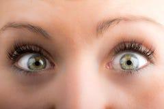 Глаза и длинные ресницы Стоковые Фотографии RF
