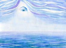 Глаза над морем Стоковое фото RF