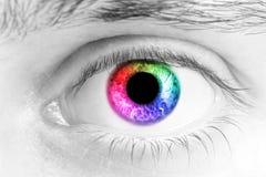 Глаза человека стоковые изображения rf