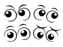 Глаза шаржа стоковая фотография