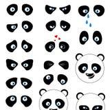 Глаза эмоций панды Стоковое Изображение RF