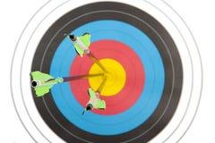 Глаз быков ударенный 3 стрелками Стоковые Изображения
