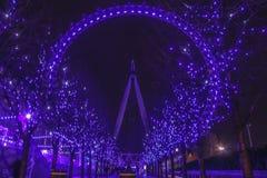 Глаз Великобритания Лондона Стоковое Изображение RF