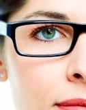 Глаз в стеклах стоковые фотографии rf