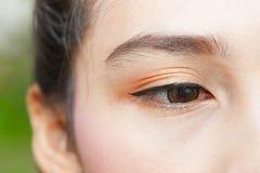 Глаз женщины стоковая фотография